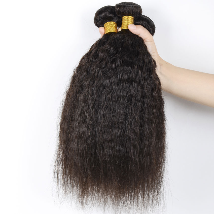Mongolian Afro Kinky Straight Virgin Hair Cheap Human Hair 100g Bundles Ali queen Hair Products Natural Hair Extensions