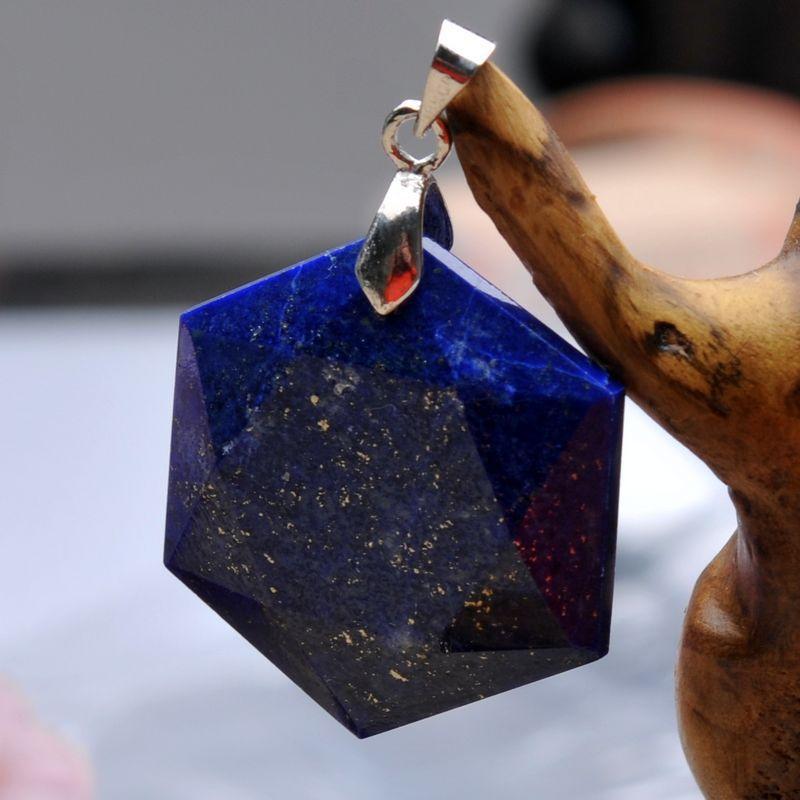 [ Shield hexagram / David / Solomon seal / Jewish Xing natural lapis lazuli pendant large satellite(China (Mainland))