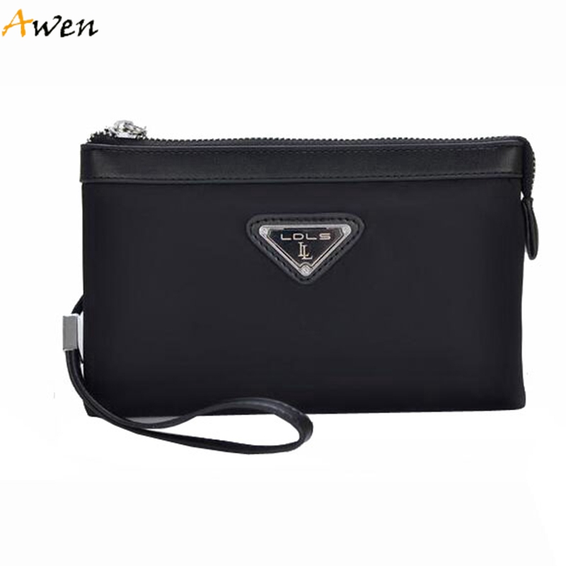 Awen - Trendy Cool Nylon Men Clutches,Waterproof Solid Color Wallets For Men,Mens Fashionable Clutch With Removable Hand Strap<br><br>Aliexpress