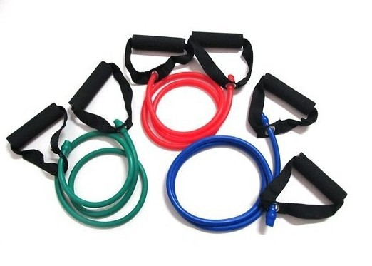 Free Shipping Yoga Exercise Resistance Bands Gym Fitness Rope Equipment Muscle Stretch Workout Tube Cable(China (Mainland))