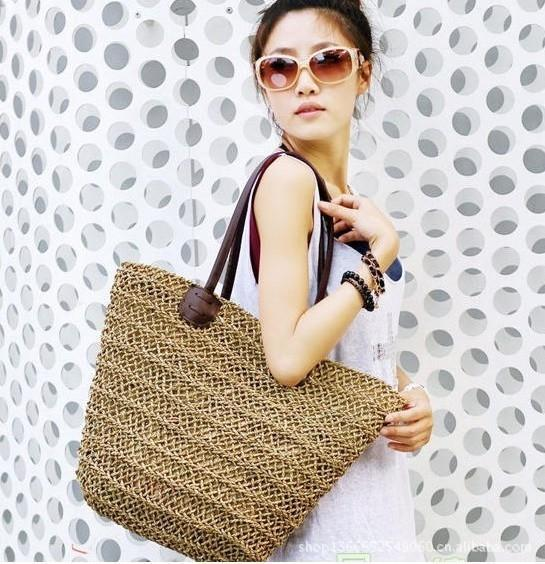 straw bag beach style designer handbags high quality summer style tote bag bags handbags women famous brands bolsos(China (Mainland))