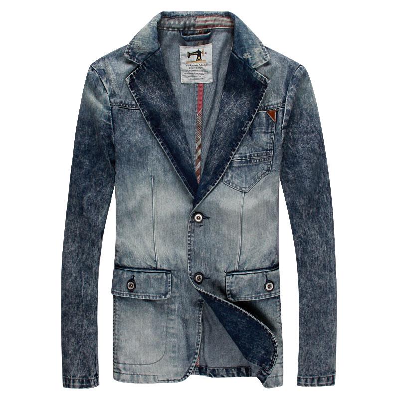 Spring 2016 denim jacket Slim tide male light-colored suits do the old casual denim suitОдежда и ак�е��уары<br><br><br>Aliexpress