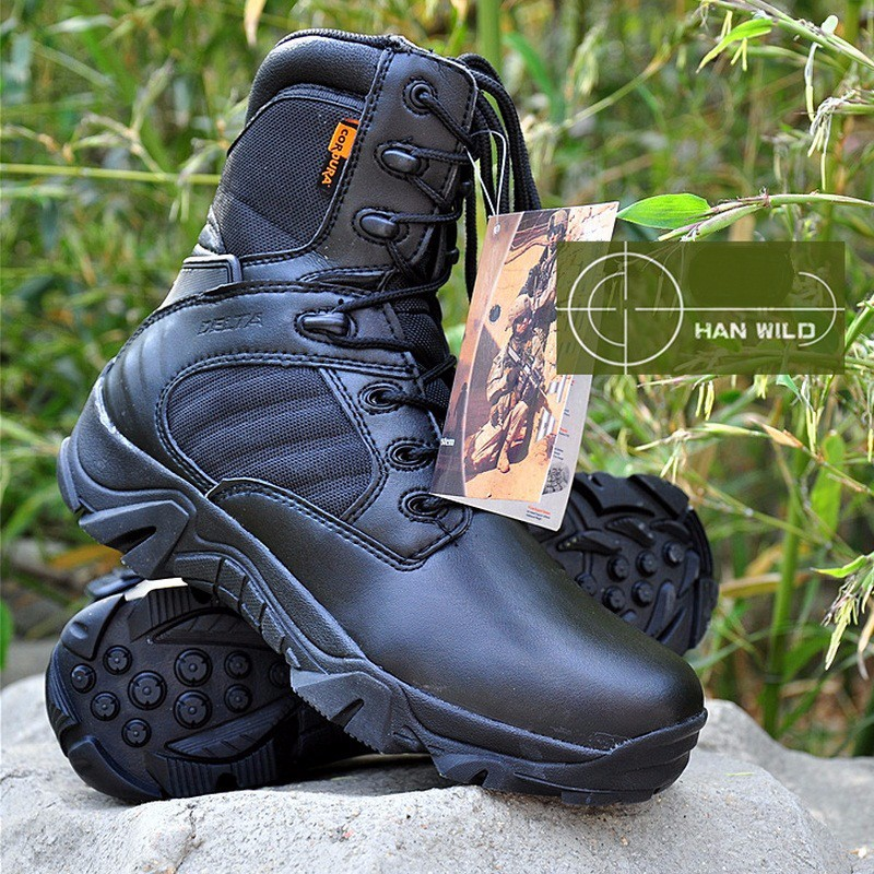 Men High-top Military Tooling Boots Shoes Genuine Leather Male Command