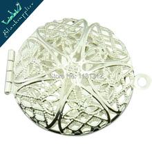 28 mm Shiny Silver Filigree Round Lockets Pendant,antique Locket,engraving lockets,Brass Lockets,Sold 10 pcs per pkg(China (Mainland))