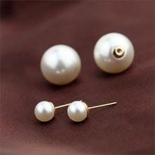 Vintage Pearl Stud Earrings Fashion Golden Earring for Women Summer Style Luxurious Ball Colorful Earrings in
