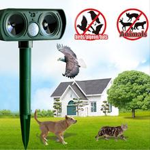 High Quality Ultrasonic Solar Cat Repeller Chaser Garden Animal Scarer Deterrent Repellent NVIE(China (Mainland))
