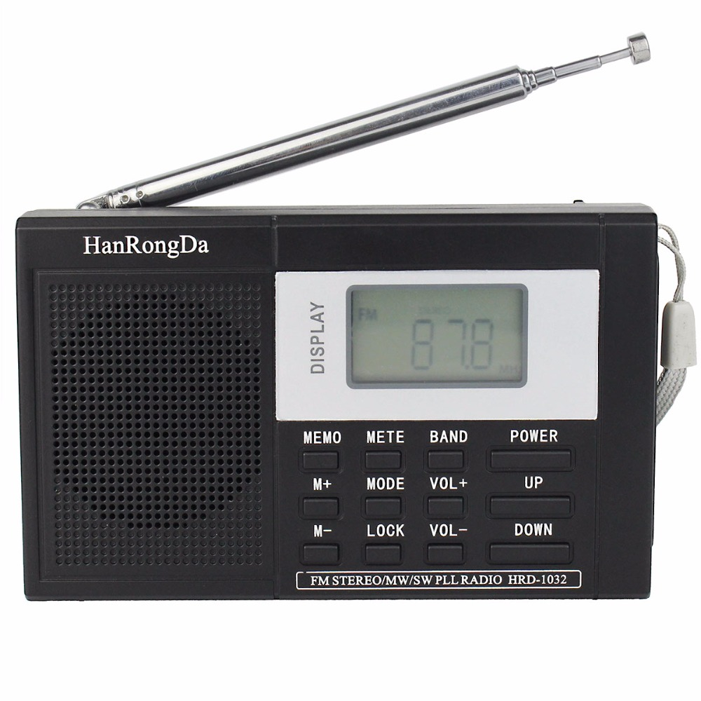 Pocket DSP FM Stereo / MW / SW Radio Shortwave Receiver Digital Clock FM Radio Black Y4178A(China (Mainland))