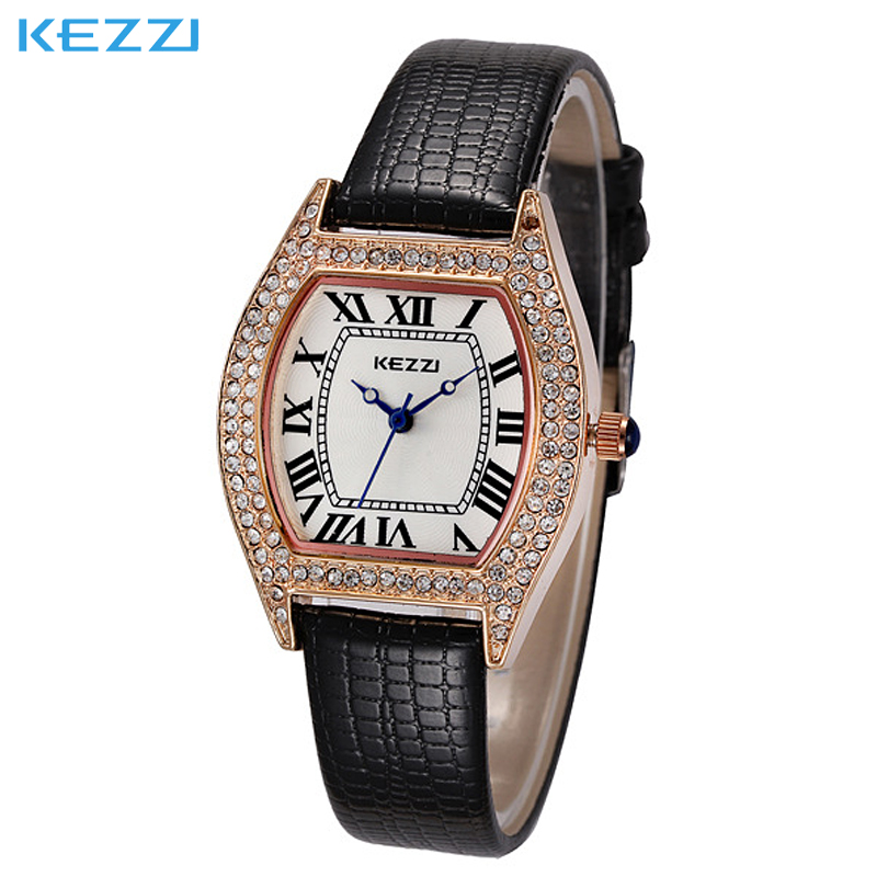 Women's Vintage Square Dial Rome Digital Rhinestone watches Leather Bracelet WristWatch Dynamic fashion strap 6 color can choose(China (Mainland))