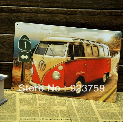 CALIFORNIA BUS paiting Tin Sign Bar pub home Wall Decor Retro Metal Art Poster 002(China (Mainland))