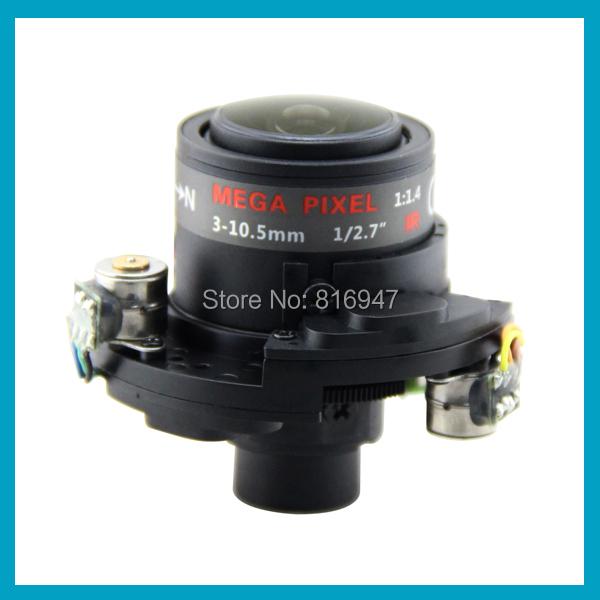 3-10.5mm cctv lens 1/2.7 inch auto Iris & IR-CUT ip cameras, M14 count, 3 mega pixel, electric lens. - Wellcam Lens store