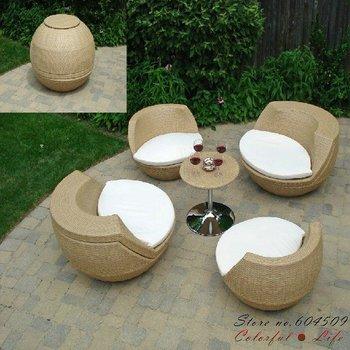Top Sale Creative PE Rattan Outdoor Sofa,YSF-N007,OEM