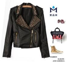 2013 autumn rivet suit long-sleeve coat women's leather Brand black blazer women Runway Coat Women Blazers and Suit Jackets xz22(China (Mainland))