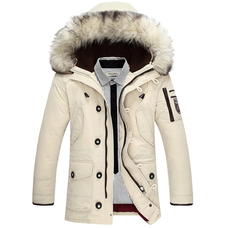 New Arrival Men's Duck Down Jacket Mens Brand Thicken Jacket Winter Coat Australian wool Fur collar Hooded -40 degree Wear Y131(China (Mainland))
