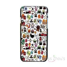 For iphone 4/4s 5/5s 5c SE 6/6s 7 plus ipod touch 4/5/6 back skins mobile cellphone cases cover Kawaii Harry Potter Doodle