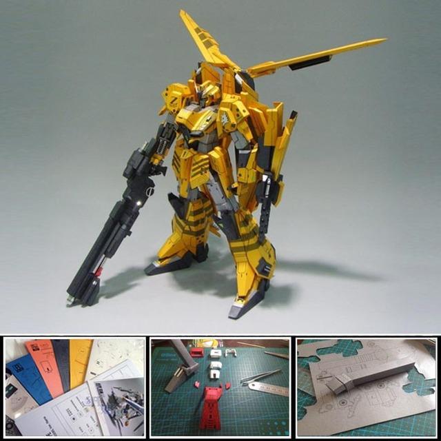 2016 new Free shipment Paper Model Robot  Gray ZETA Gundam GRAY WOLF Customize Mobile Suit 38cm 3d diy handmade puzzle toys