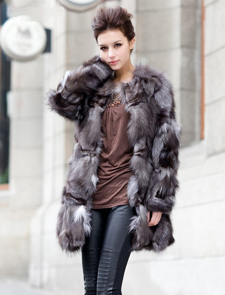 2014 Luxury Lady Genuine Natural Fox Fur Coat Jacket Winter Women Fur Outerwear Coats Trench Overcoat Clothing VK1502Одежда и ак�е��уары<br><br><br>Aliexpress