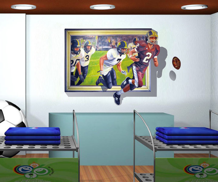 New Arrival DIY The America Football Waterproof Vinyl Quote ART Wall Sticker Decal Mural Decor, Free Shipping CT151(China (Mainland))