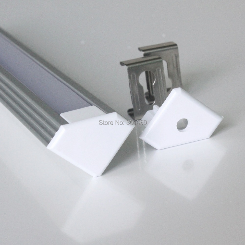 10pcs (20m) a lot, 2m per piece, aluminum housing led light bar clear cover or milky diffuse cover(China (Mainland))