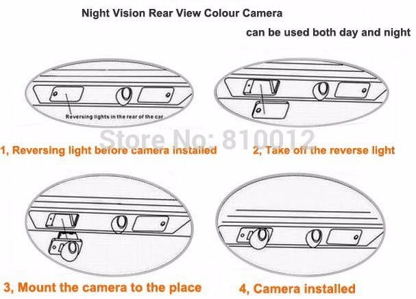 Wireless Car Rear Camera for Peugeot 4008 2012 Auto Backup Reverse Review Parking kit Night Vision Free Shipping KF-V1192