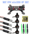 WST FPV Drones Quadcopter  DIY 3K Carbon Fiber Mini Q250 Frame Set With WST