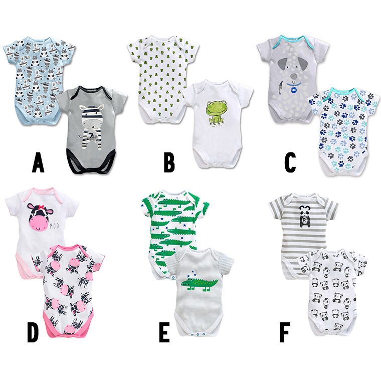2PCS/LOT Baby Rompers 2015 New Summer Cute Cartoon Baby Clothes Cotton Short Sleeve Newborn Baby Boy Girl Clothing Top Quality(China (Mainland))