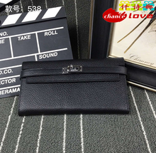 Hot Women's wallet headband leather interior zip trend high quality women's wallet solid color fashion long wallet free shipping(China (Mainland))