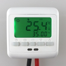 Buy Weekly Programmable Floor Heating Thermostat Underfloor Warm System Temperature Controller LCD Green Backlight Free for $16.27 in AliExpress store