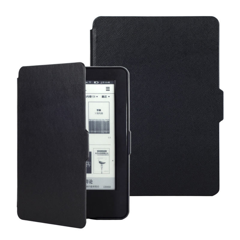 Leather PU Smart Ultra Thin Magnetic Cover Case Skin For NEW KINDLE 6 inch With Touch For Amazon Kindle Screen Protector Case(China (Mainland))
