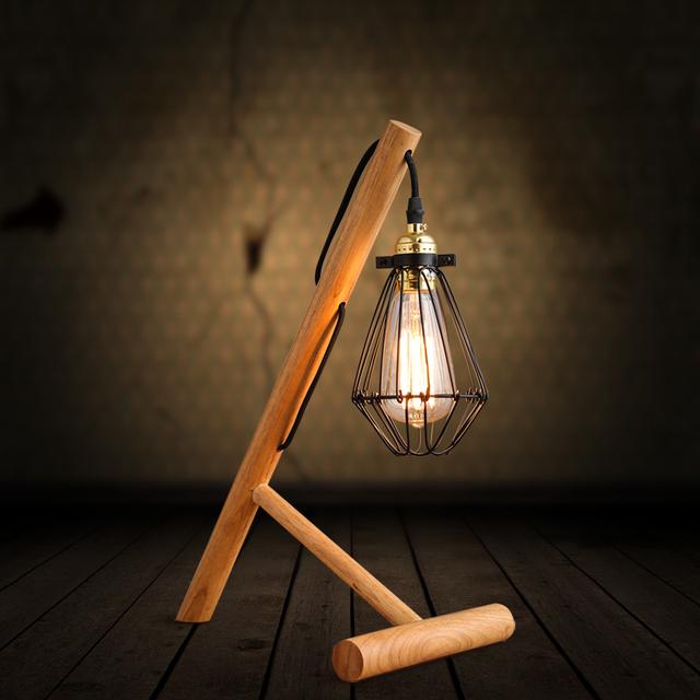 L mparas colgantes y de mesa taringa - Lamparas de madera para pintar ...