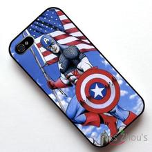 For iphone 4/4s 5/5s 5c SE 6/6s plus ipod touch 4/5/6 back skins mobile cellphone cases cover Captain AMERICA