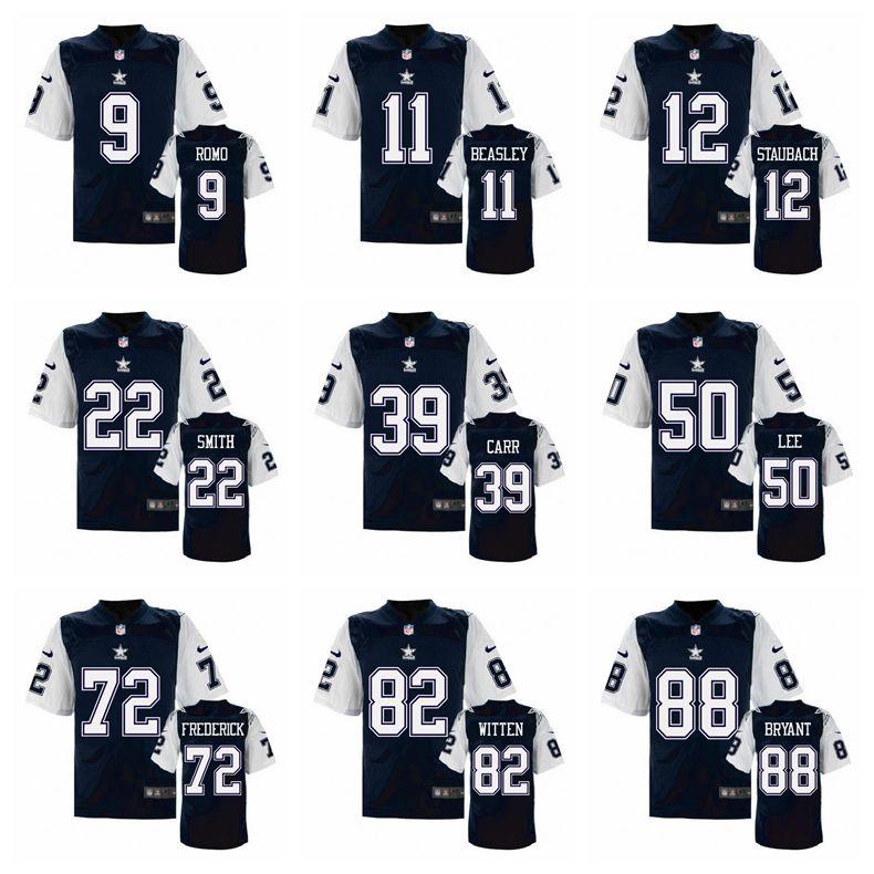 100% Stitiched,Dallas Cowboys,Tony Romo,Emmitt Smith,Sean Lee,Jason Witten,Dez Bryant,Ezekiel Elliott,Elite retro,black(China (Mainland))