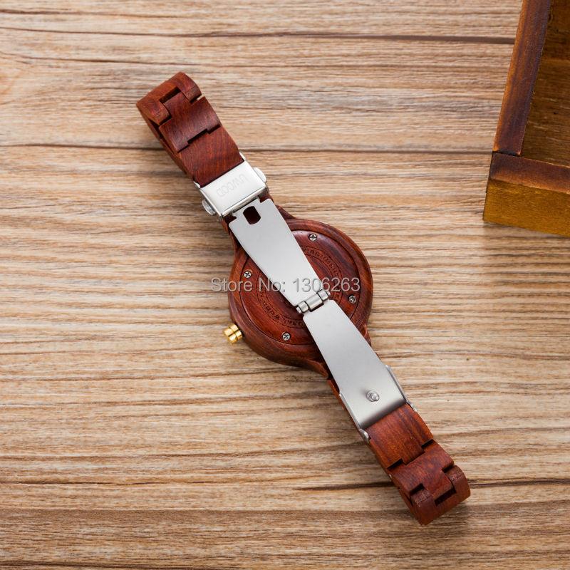 Горячий Продавать Платья Женщин Часы Уникальный Женщины Деревянный Кварцевые Часы Браслет Натурального Дерева Часы Подарки Для Женщин Леди Смотреть Relógio