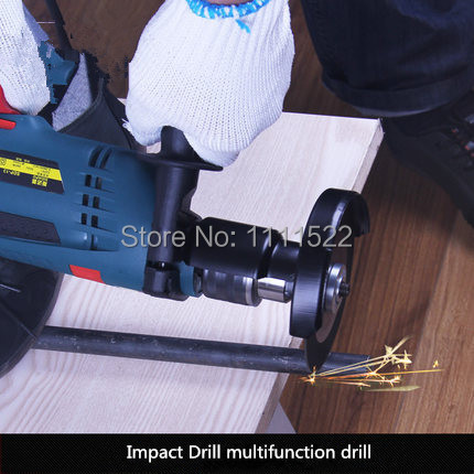 13mm Impact Drill Multifunctional Drill Two Hand Drill Hammer Suit Household Mini Electric Tools Free Shipping