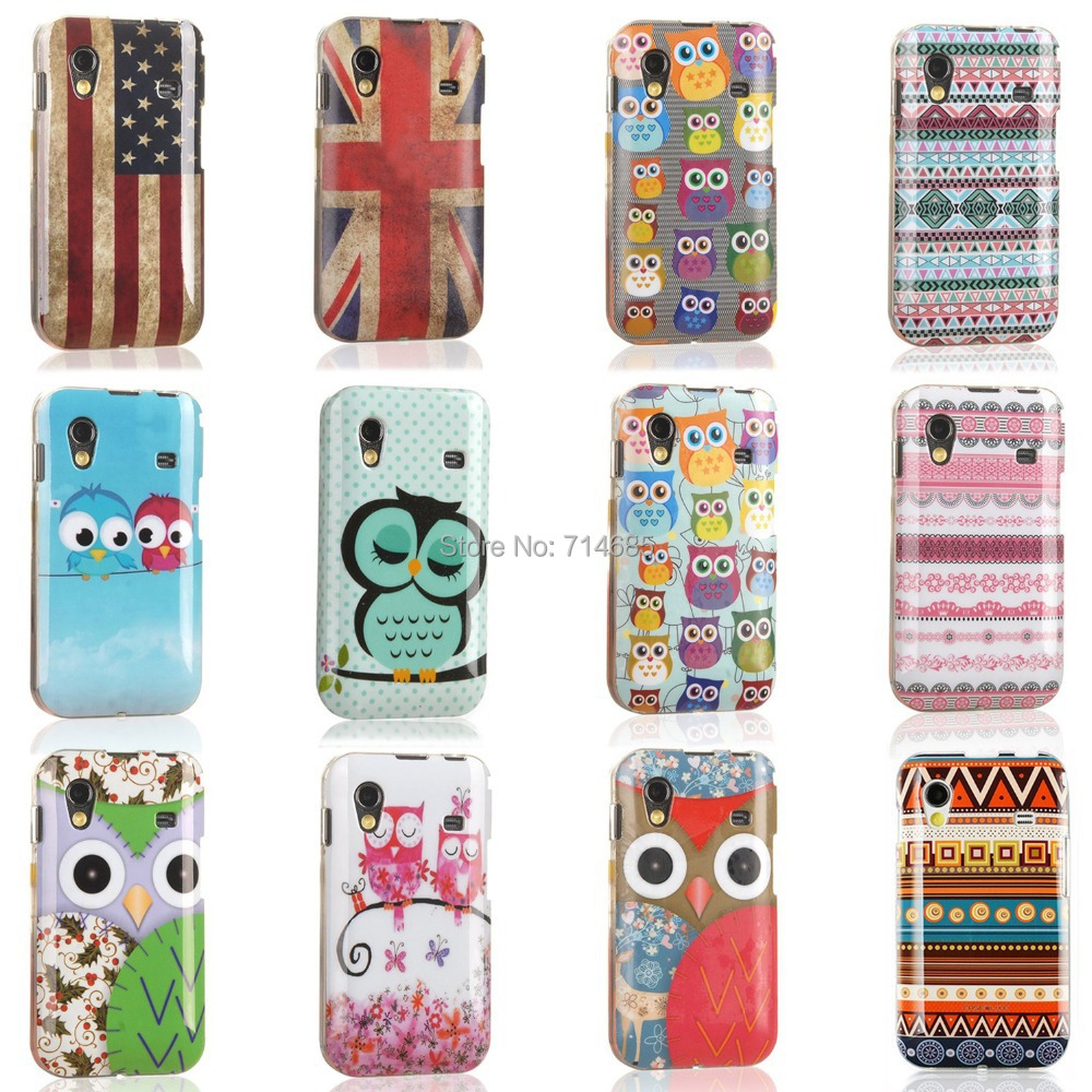 Cheap Polka Dots Owl Indian Style Silicone Protective Phone Case Touch Pen for Samsung GALAXY Ace S5830 S 5830 S5830i Cover Skin(China (Mainland))