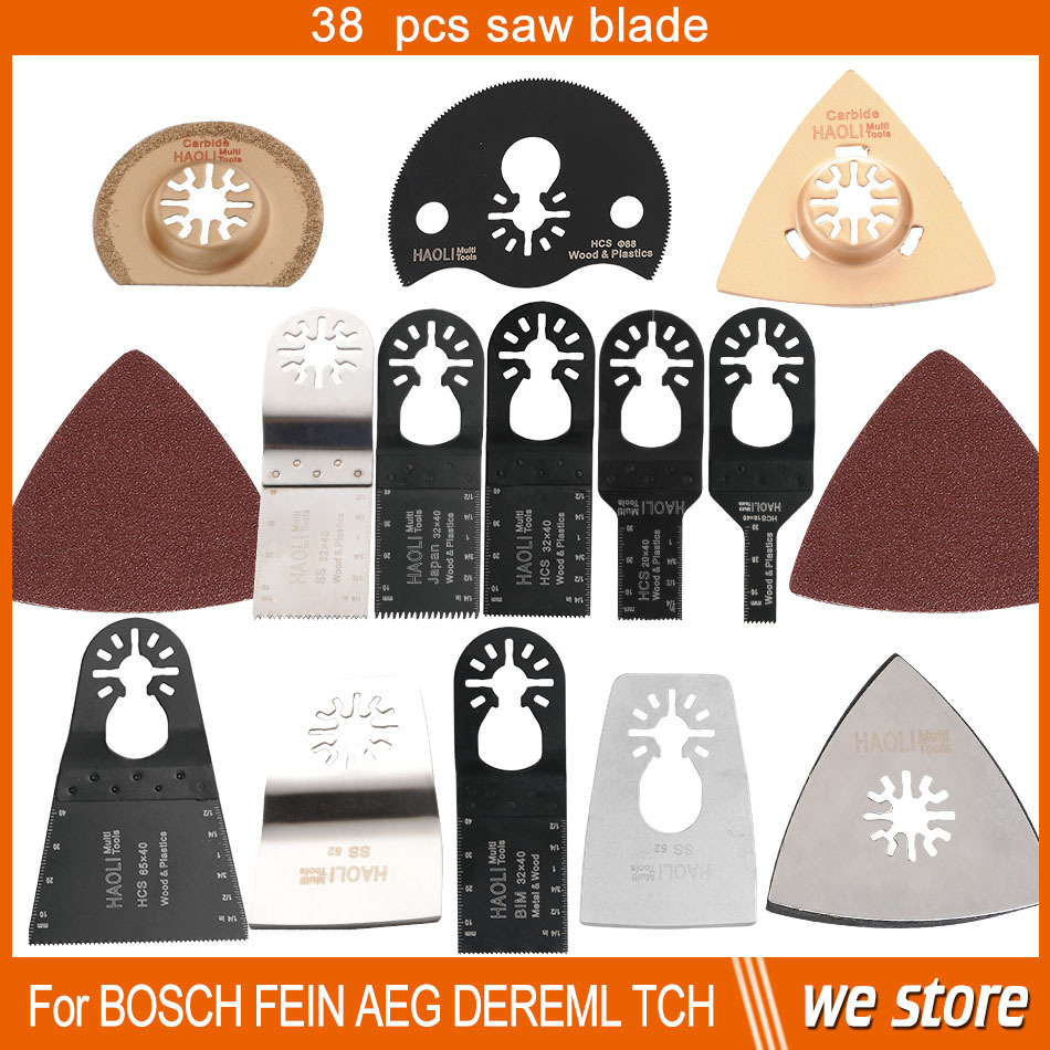 38 pcs oscillating tool saw blades for multimaster power tool for home decoration for Fein renovator