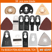 37 pcs+1 pcs oscillating tool saw blades for multimaster power tool ,free shipping for nail steel tile cement home decration