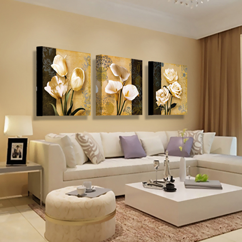 3pcs no frame art orchid canvas oil painting poster living room pictures on the wall modular