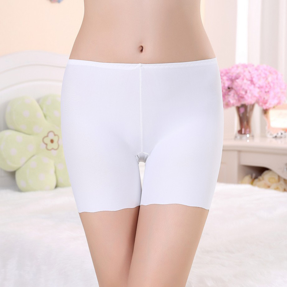 Hot Women Safety Pant Shorts Lce Silk Three-Point Safety Pants Anti Emptied Underpants