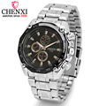 CHENXI Brand Fashion Man Business Watches Stainless Steel Sport Wristwatches Men Quartz Water Resistant Watch relogio