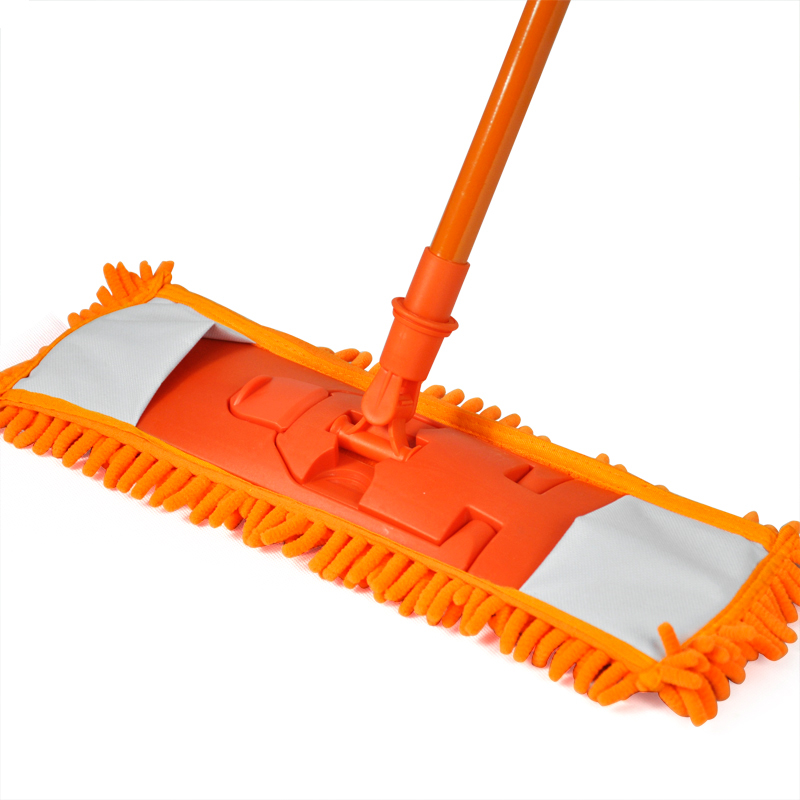 New Extendable Microfibre Mop Cleaner Sweeper Wet Dry - Orange(China (Mainland))
