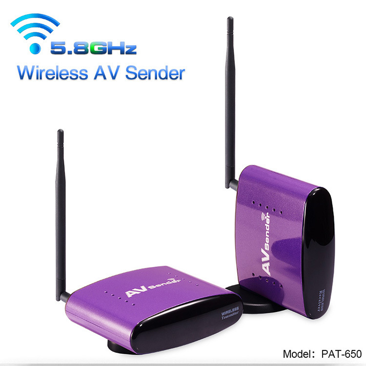 New 5.8GHZ Pat 650 300 Meters AV Wireless Transmitter 1 Receiver Sender Audio Video,free ship by CN airmail(China (Mainland))