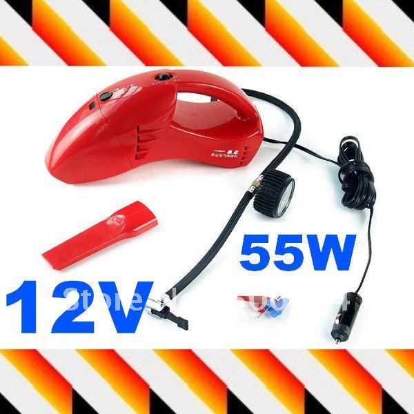DC 12V 55W Fashion Auto vacuum cleaner Mini Handheld Car vacuum cleaner(Hong Kong)