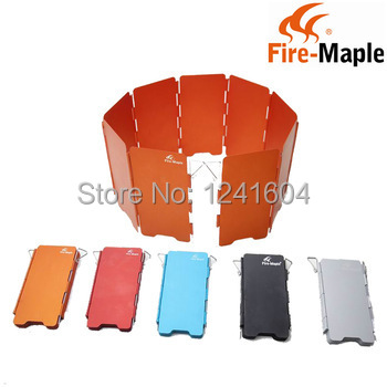 free shipping fire maple portable camping stove windscreen foldable 9 plates wind baffle 110g. Black Bedroom Furniture Sets. Home Design Ideas