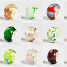 NEW ARRIVAL FREE SHIPPING 100pcs lampwork glass european beads fashion jewelry #R-12037Y66(China (Mainland))