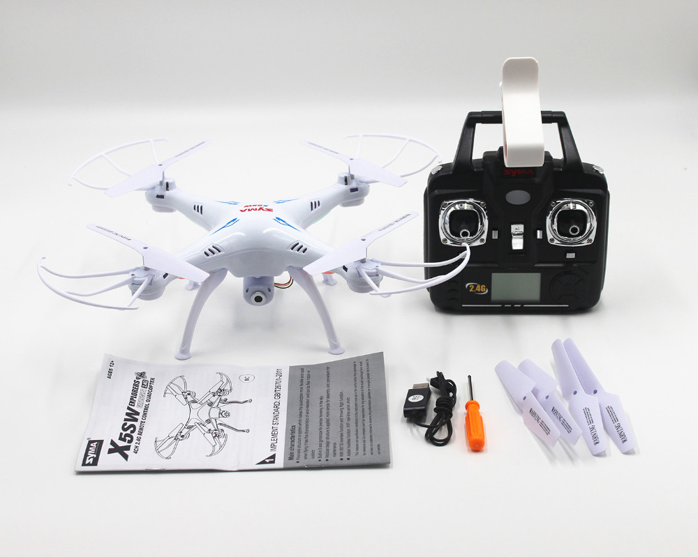 Syma X5SW X5SW-1 2.4G 6-Axis Gyro 2.4G 4CH Real-time Images Return RC FPV Quadcopter drone WIFI with HD Camera
