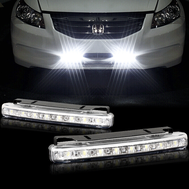 Car Styling Flexible Led Daytime Running Lights Cars Generic 8led Drl 2pcs / Lot 6w 12 V Wholesale Drl Led Daytime Running Light(China (Mainland))
