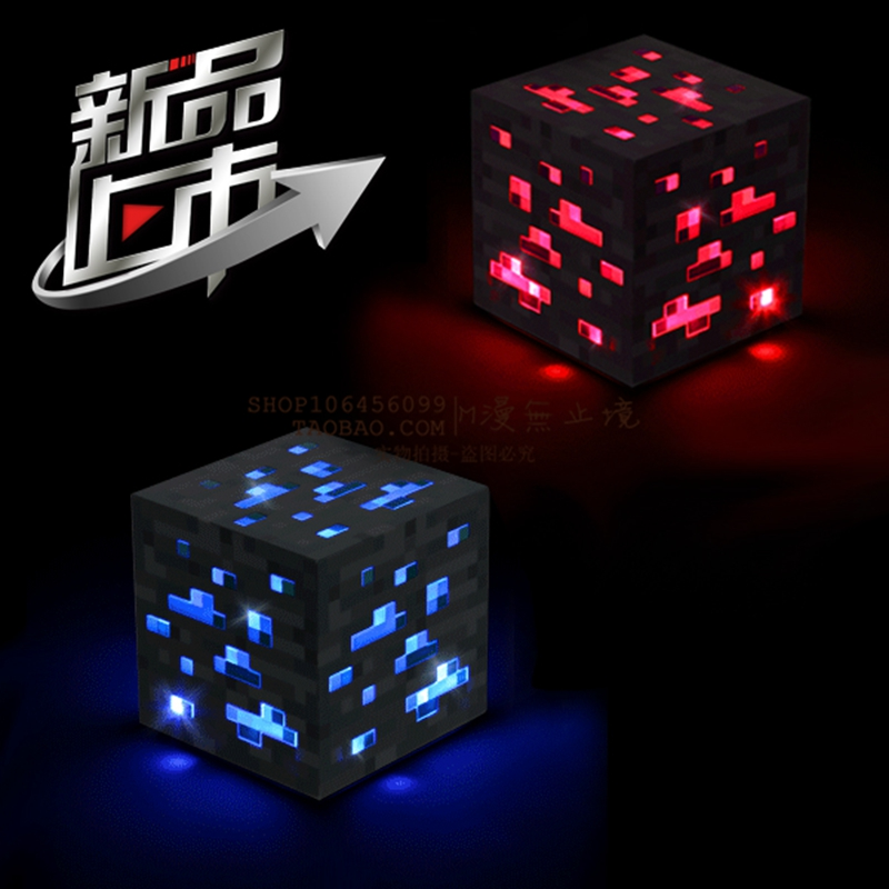 Гаджет  minecraft My world Led touch lighting blue and red square light Free shipping in stock None Свет и освещение