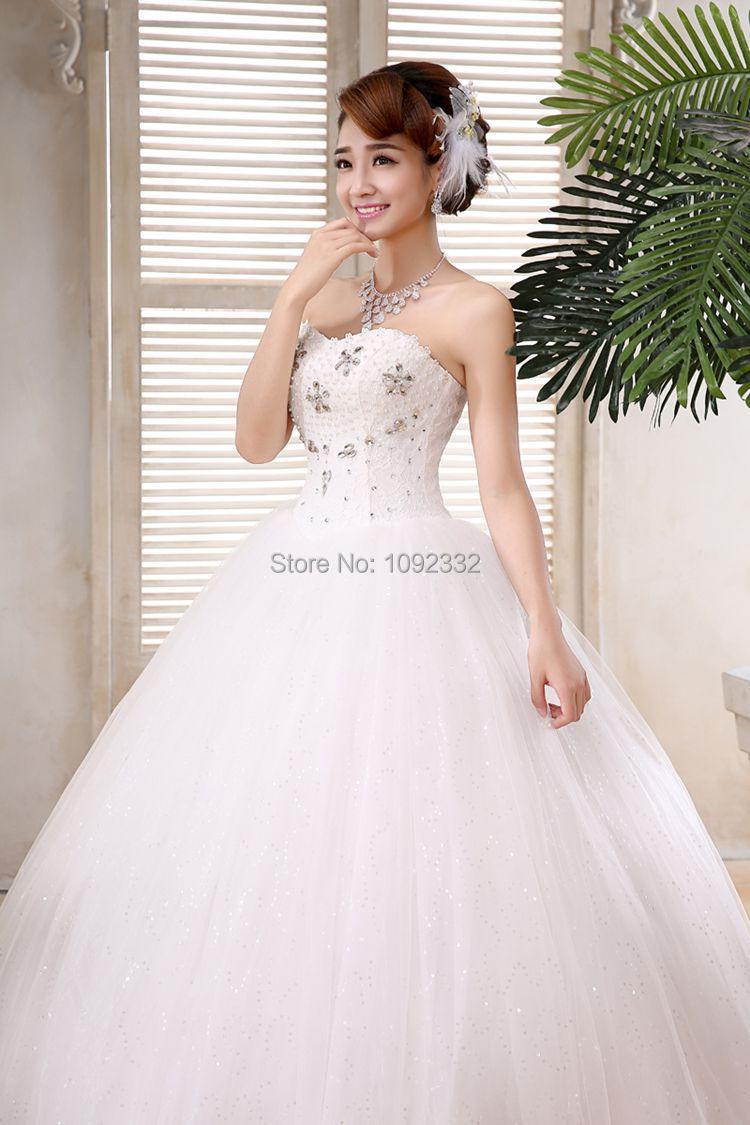 Z 2016 women wedding dress plus size bridal gown new stock for Wedding dress in stock