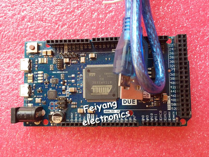 FREE SHIPPING 1pcs For Arduino Due 2012 R3 ARM Version Main Control Board Best price good service(China (Mainland))