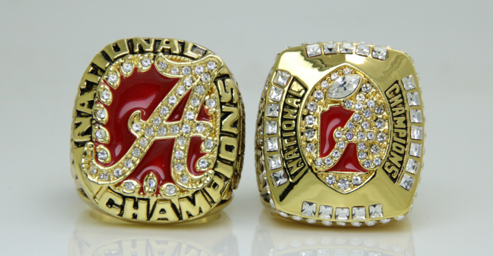 One Set 2pcs 2009 2011 Alabama Crimson National championship ring solid 11S in stock for sale<br><br>Aliexpress